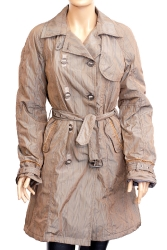 Warm raincoat with a belt(NATIONAL)
